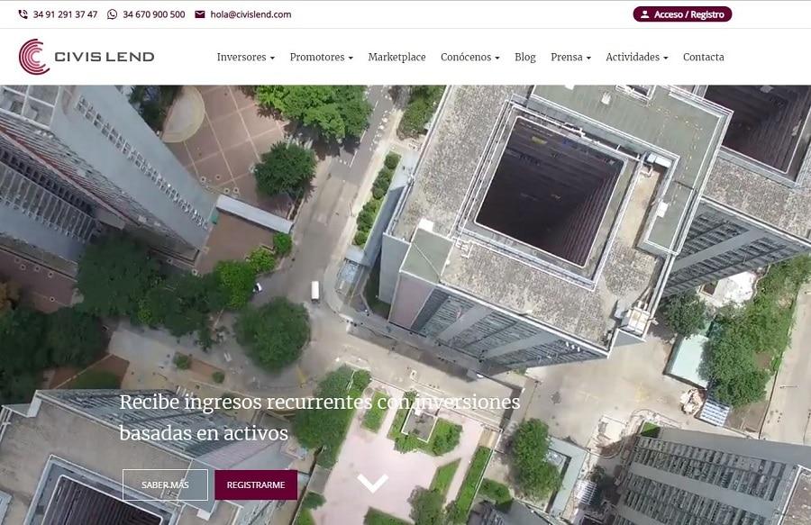 plataforma crowdfunding sector inmobiliario civislend