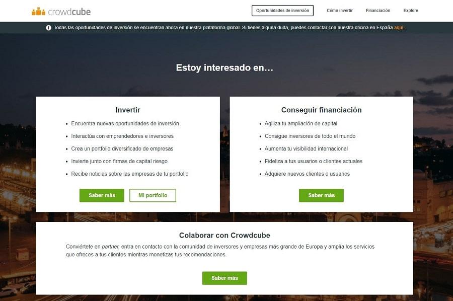 crowdcube plataforma de cwordfunding en el sector empresarial